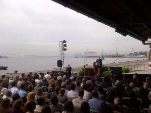 Vice-Presidente dos EUA, Joe Biden, discursa no Rio.